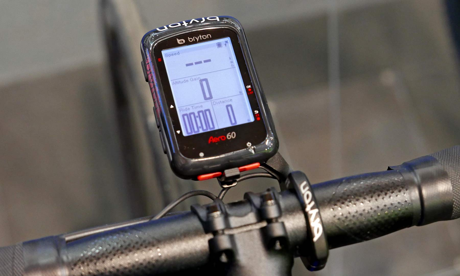 Bryton Aero 60 affordable aero optimized fully connected GPS cycling computer on bike